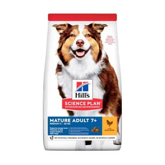 Hills Science Plan hrana za pse Mature Adult 7+ Medium Piletina 14kg
