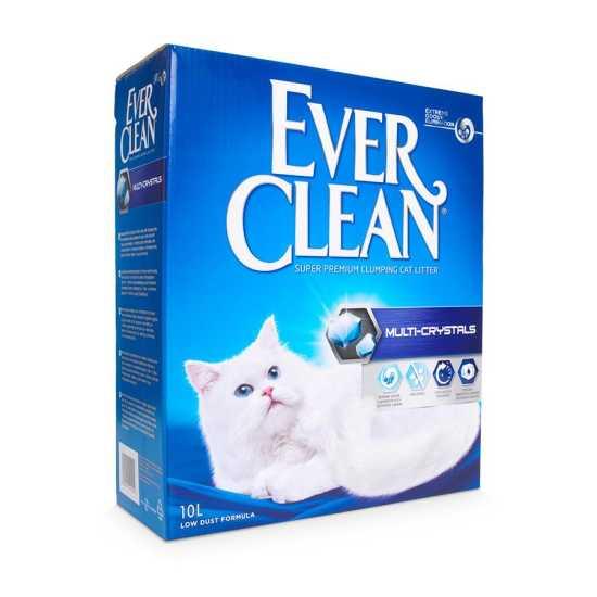 EVER CLEAN posip za mačke Multi-Crystals - grudvajući 10L