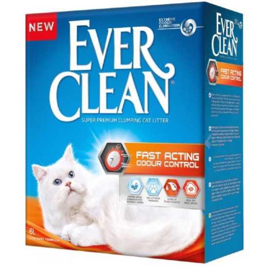 EVER CLEAN posip za mačke Fast Acting - grudvajući 6L