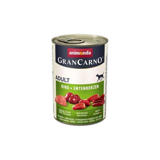 Animonda GranCarno konzerva za pse Adult govedina i pačja srca 400gr