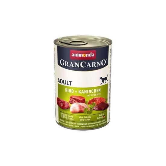 Animonda GranCarno konzerva za pse Adult govedina, zečetina i bilje 400gr