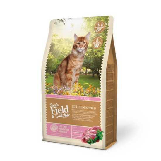 Sam's Field hrana za mačke Adult Delicious Wild - divljač - 7.5kg