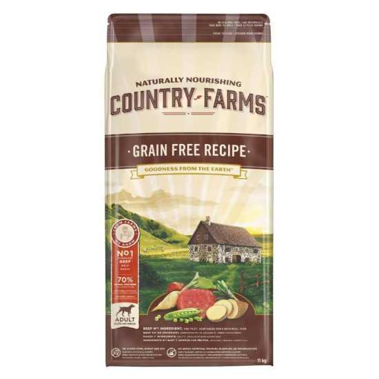 Country Farms hrana za pse Grain Free Adult Govedina 11kg