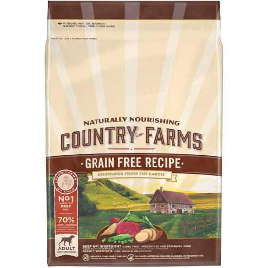 Country Farms hrana za pse Grain Free Adult Govedina 2.5kg