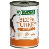 Nature's Protection konzerva za pse - govedina i ćuretina 400gr