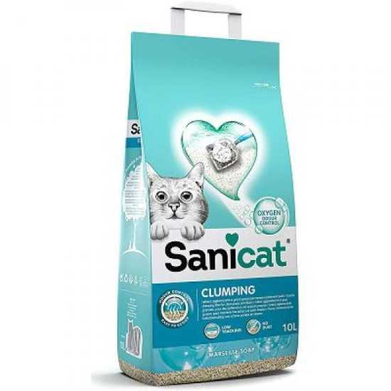 SANICAT grudvajući posip za mačke Vanila-Mandarina - 8L
