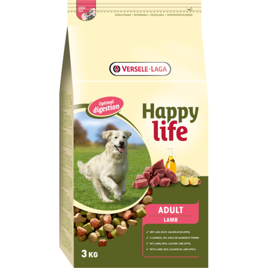 Happy Life hrana za pse Adult Lamb 3kg