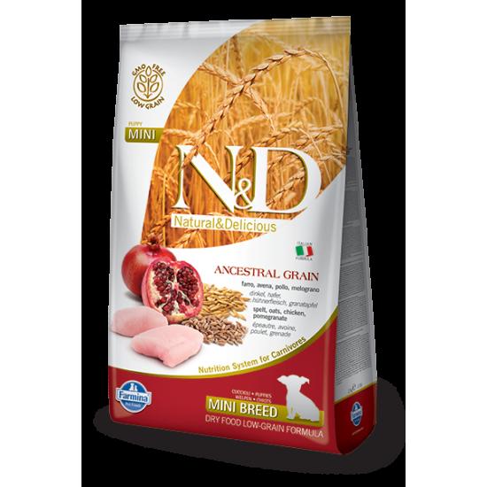 N&D hrana za pse Low Grain CHICKEN & POMEGRANATE (Puppy, Mini) 800g