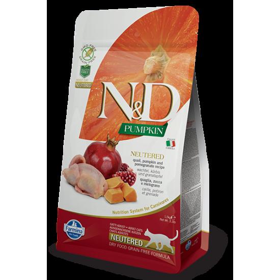 N&D Pumpkin hrana za sterilisane mačke  - Quail & Pomegranate 300gr