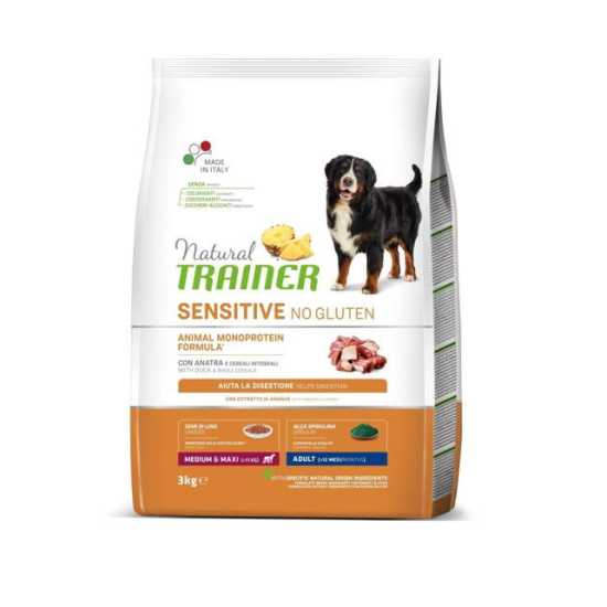 Trainer Natural SENSITIVE hrana za pse - Pačetina - Medium/Maxi Adult 3kg